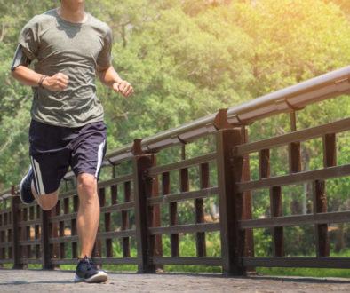 running man. Male runner at sprinting speed training for maratho